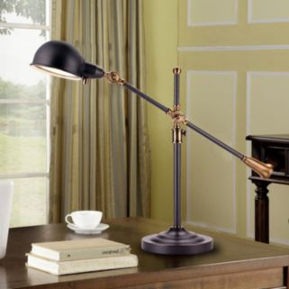 Catalina Lighting Heritage Adjustable Dimmer LED Desk Lamp