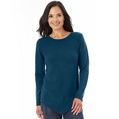 Women's Apt. 9® Mitered Crewneck Sweater