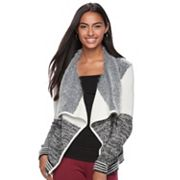Juniors' Candie's® Print Waterfall Cardigan