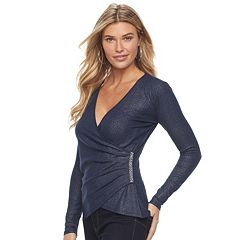 Women's Juicy Couture Embellished Faux-Wrap Top