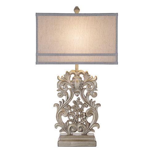 Catalina Lighting Weathered Filigree Table Lamp