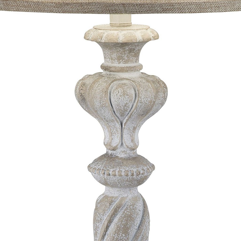 Catalina Lighting Weathered White Table Lamp