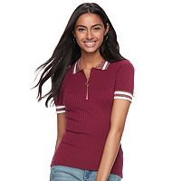 Juniors' Candie's® Zip Front Top