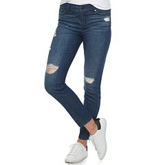 Women's Juicy Couture Rhinestone Destructed Skinny Jeans