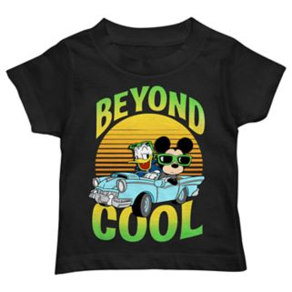 """Disney's Mickey Mouse & Donald Duck Toddler Boy Car """"Beyond Cool"""" Graphic Tee"""