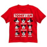 "Disney's Mickey Mouse Toddler Boy Expressions ""Today I Am"" Graphic Tee"