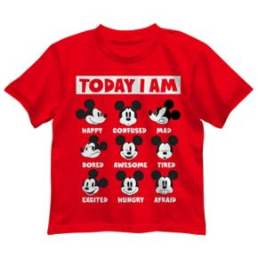 """Disney's Mickey Mouse Toddler Boy Expressions """"Today I Am"""" Graphic Tee"""