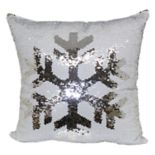 As Seen On TV Brentwood Mermaid Sequin Snowflake Throw Pillow