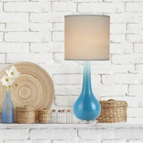 Catalina Lighting Ombre Glass Table Lamp