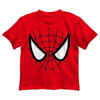 Toddler Boy Marvel Spider-Man Face Graphic Tee