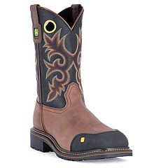 John Deere Men's Western Steel Toe Work Boots - JD4911
