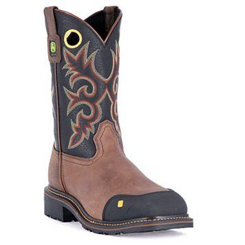 John Deere Men's Western Steel Toe Work Boots - JD4911