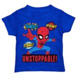 "Toddler Boy Marvel Spider-Man ""Unstoppable!"" Graphic Tee"