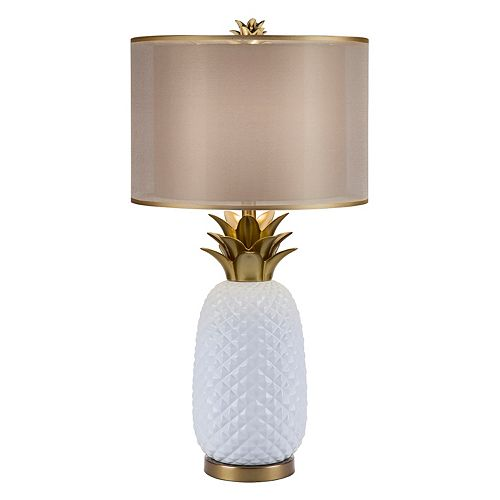 Catalina Lighting Double Shade Pineapple Table Lamp