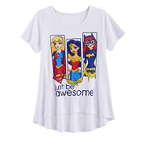 Girls 7-16 DC Comics Supergirl, Wonder Woman & Batgirl