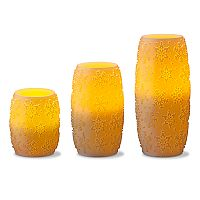 Apothecary Snowflake Flameless LED Candle 3 pc Set