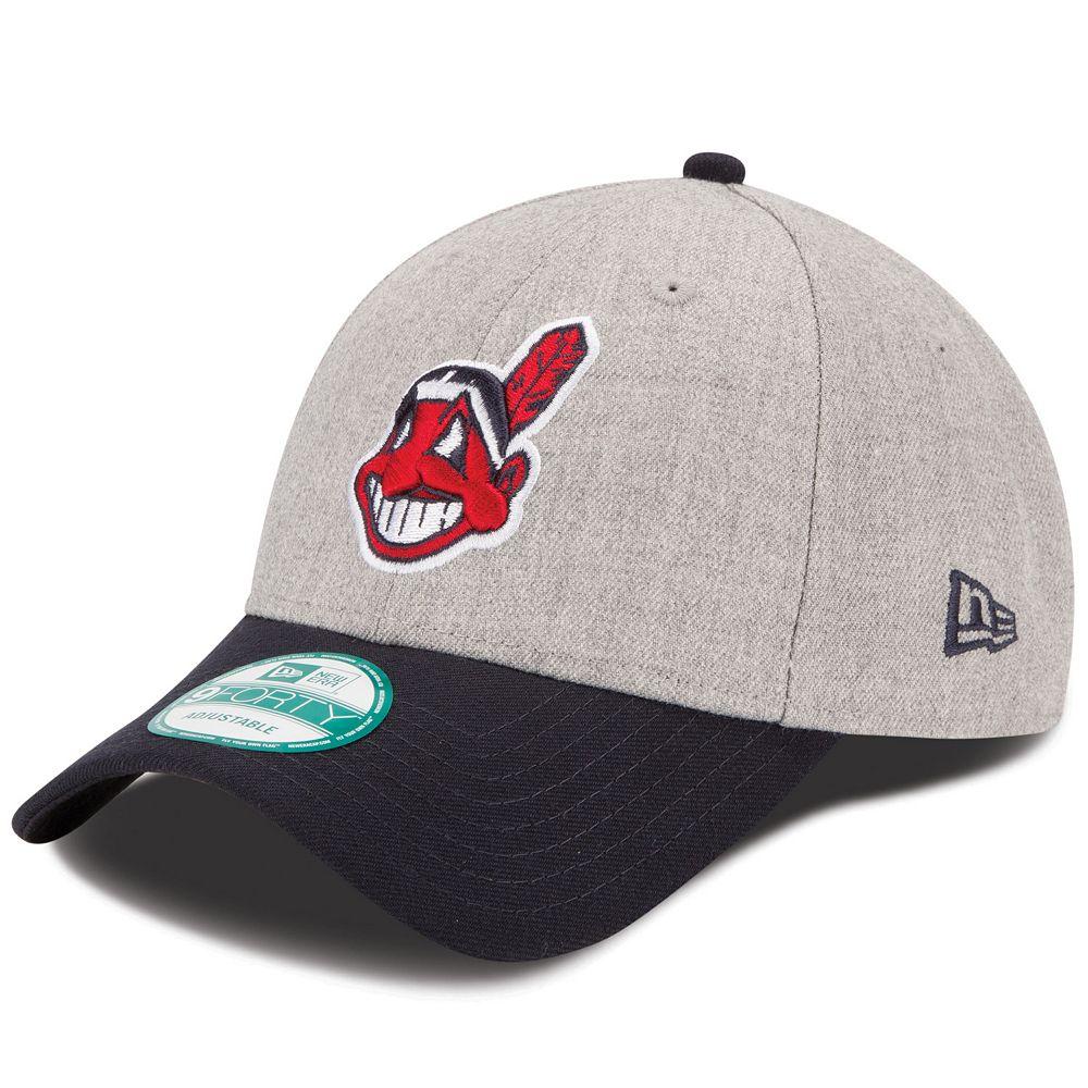 fbd76066e14 Adult New Era Cleveland Indians The League 9FORTY Adjustable Cap