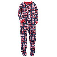 Boys 4-8 Carter's Firetruck 1-Piece Footed Pajamas