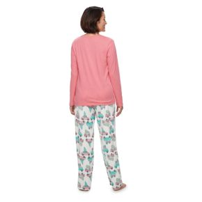 Women's Jammies For Your Families Retro Car Top & Fleece Bottoms Pajama Set