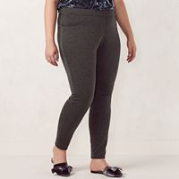 Plus Size LC Lauren Conrad Pull-On Skinny Dress Leggings