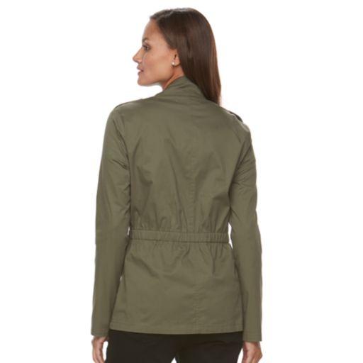 Women's Croft & Barrow® Elastic Waist Utility Jacket