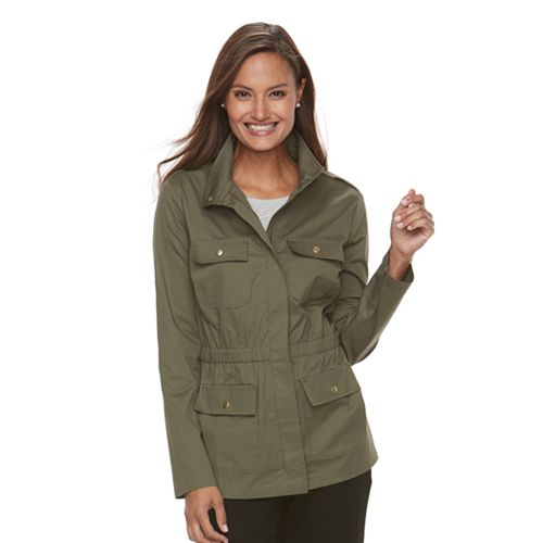 Women's Croft & Barrow® Elastic Waist Utility Jacket