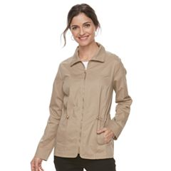 Women's Croft & Barrow® Full-Zip Utility Jacket