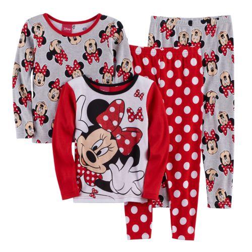Disney's Minnie Mouse Toddler Girl 4-pc. Pajama Set