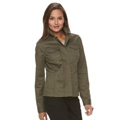Women's Croft & Barrow® Utility Blazer Jacket