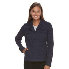 Women's Croft & Barrow® Utility Blazer Jacket