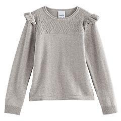 Girls 4-12 SONOMA Goods for Life™ Flutter Sleeve Pullover Sweater