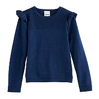 Girls 4-12 SONOMA Goods for Life™ Flutter Sleeve Pullover Sweater