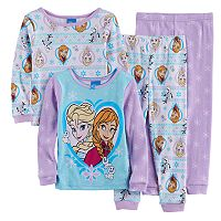 Disney's Frozen Toddler Girl Elsa & Anna Pajama Set