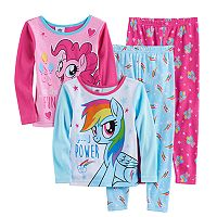 Toddler Girl My Little Pony 4-pc. Rainbow Dash & Pinkie Pie Pajama Set