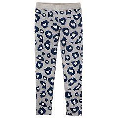 Girl's 4-8 Carter's Leopard Print Leggings
