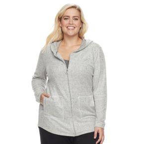 Plus Size Cathy Daniels Zip Front Hoodie