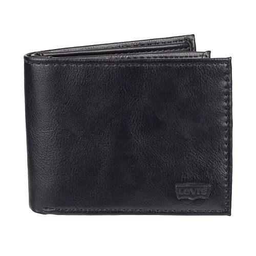 Men's Levi's RFID-Blocking Extra-Capacity Black Slimfold Wallet