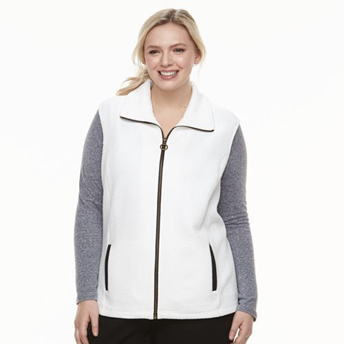 Plus Size Cathy Daniels Zip-Front Quilted Vest