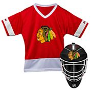 Youth Franklin Chicago Blackhawks Goalie Face Mask & Jersey Set