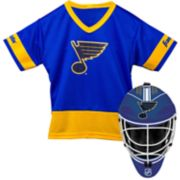 Youth Franklin St. Louis Blues Goalie Face Mask & Jersey Set
