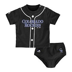 Baby Majestic Colorado Rockies Uniform Tee & Shorts Set