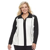 Plus Size Cathy Daniels Colorblock Quilted Jacket
