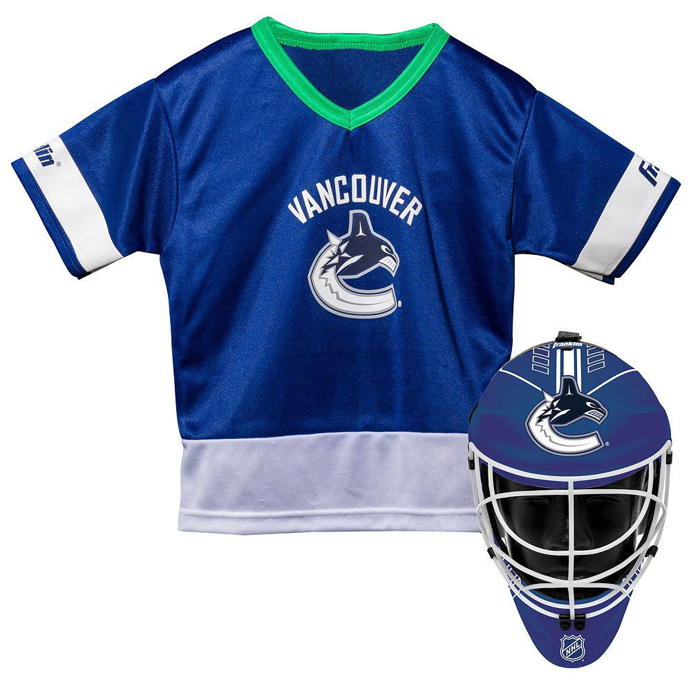Youth Franklin Vancouver Canucks Goalie Face Mask & Jersey Set