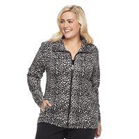 Plus Size Cathy Daniels Leopard Print Jacket