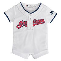 Baby Majestic Cleveland Indians Cool Base Replica Jersey Bodysuit