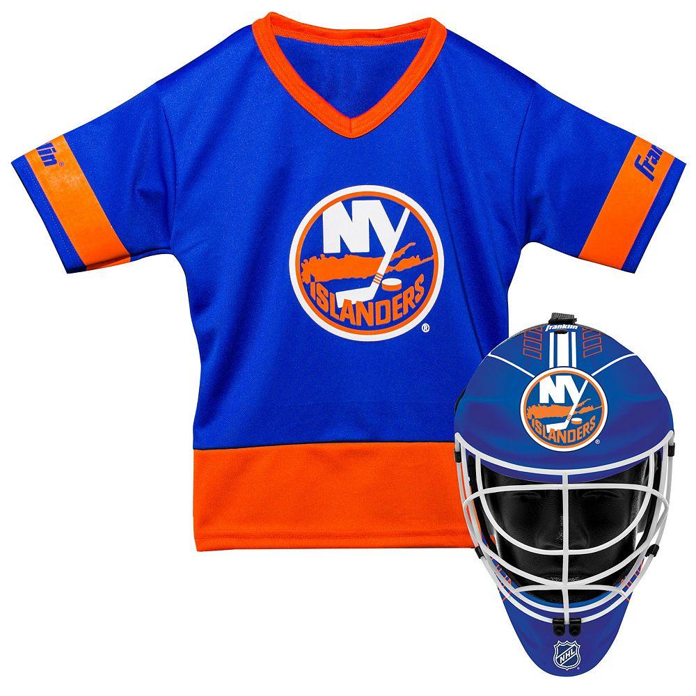 Youth Franklin New York Islanders Goalie Face Mask & Jersey Set