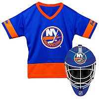 Youth Franklin New York Islanders Goalie Face Mask & Jersey Set