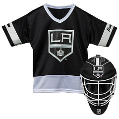 Youth Franklin Los Angeles Kings Goalie Face Mask & Jersey Set