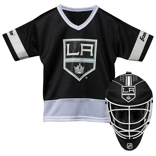 Youth Franklin Los Angeles Kings Goalie Face Mask & Jersey Set