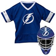 Youth Franklin Tampa Bay Lightning Goalie Face Mask & Jersey Set